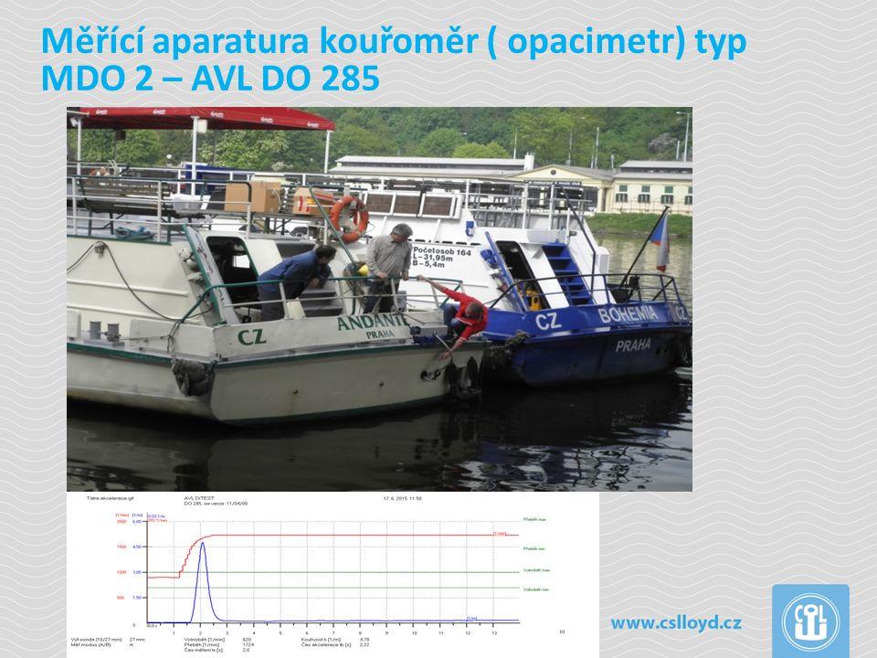 Výsledky měření typických plavidel – osobní lodě, remorkéry Jméno lodi Motor r.v.