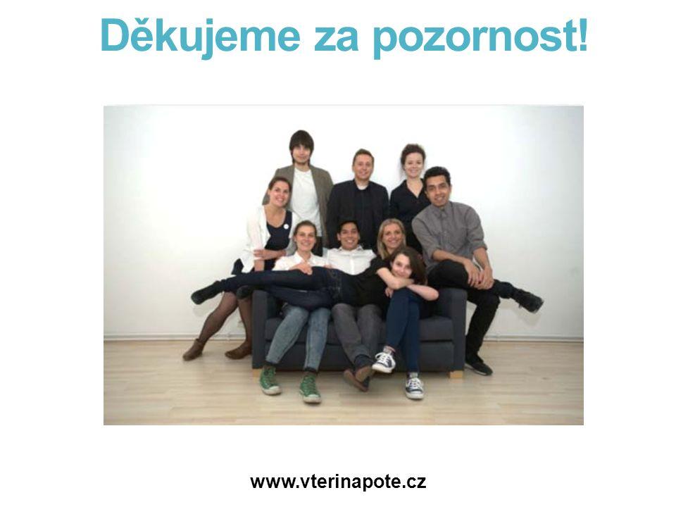Děkujeme za pozornost! www.vterinapote.cz