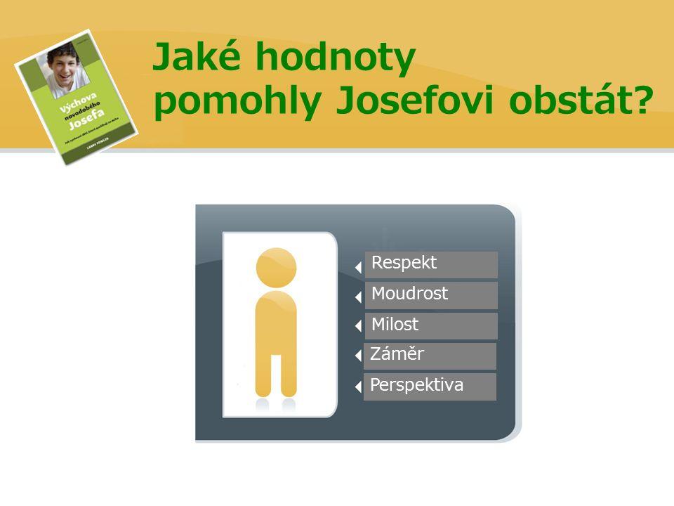 Jaké hodnoty pomohly Josefovi obstát Perspektiva Záměr Milost Moudrost Respekt