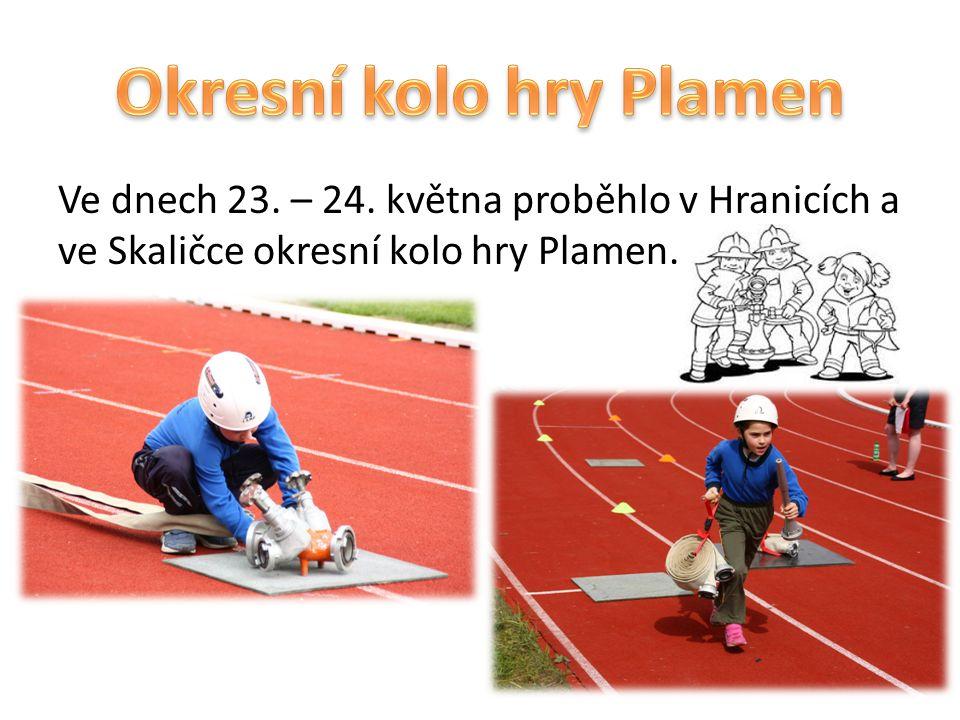 Ve dnech 23. – 24. května proběhlo v Hranicích a ve Skaličce okresní kolo hry Plamen.