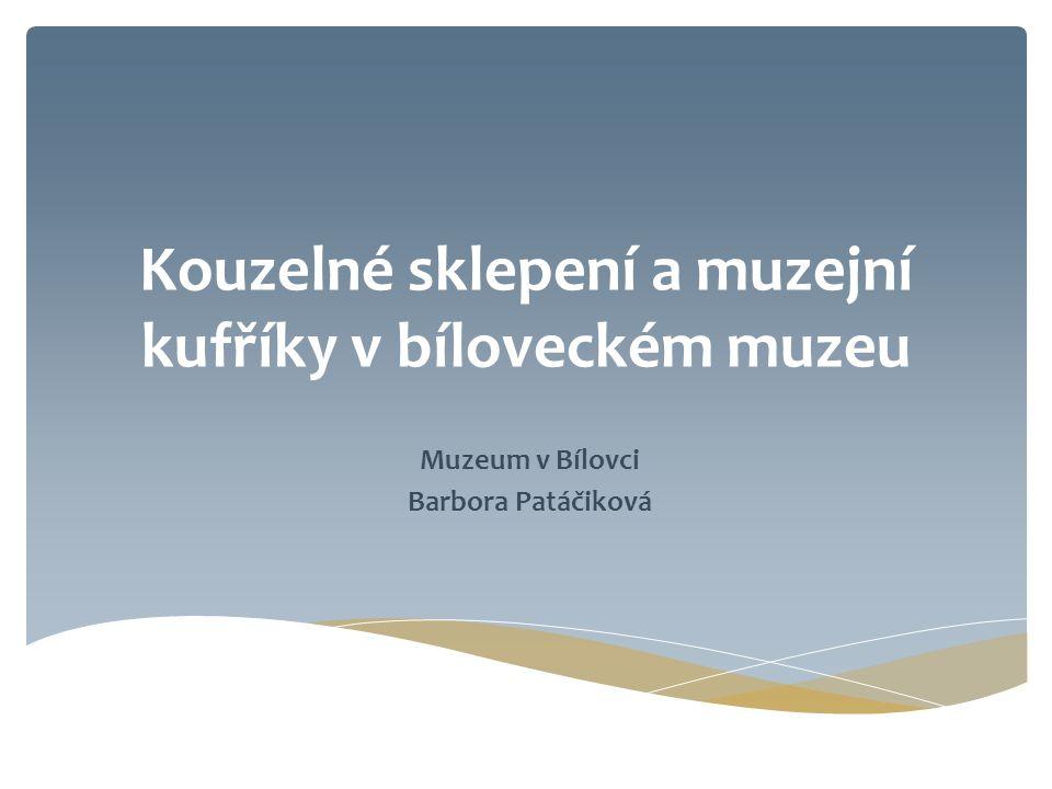 Kouzelné sklepení a muzejní kufříky v bíloveckém muzeu Muzeum v Bílovci Barbora Patáčiková