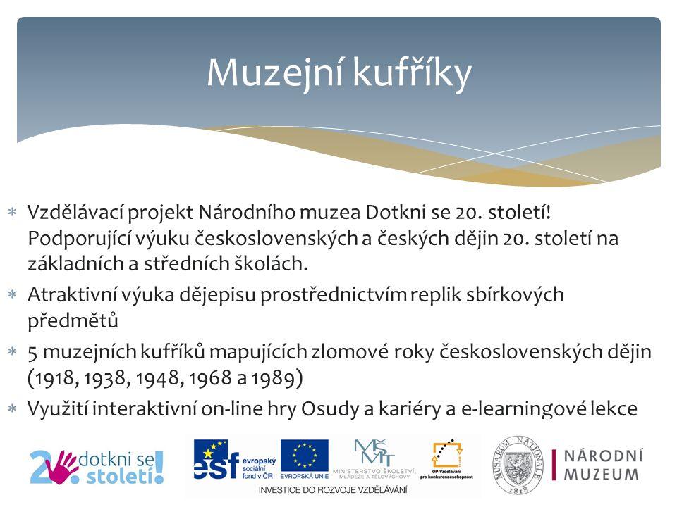  Vzdělávací projekt Národního muzea Dotkni se 20.
