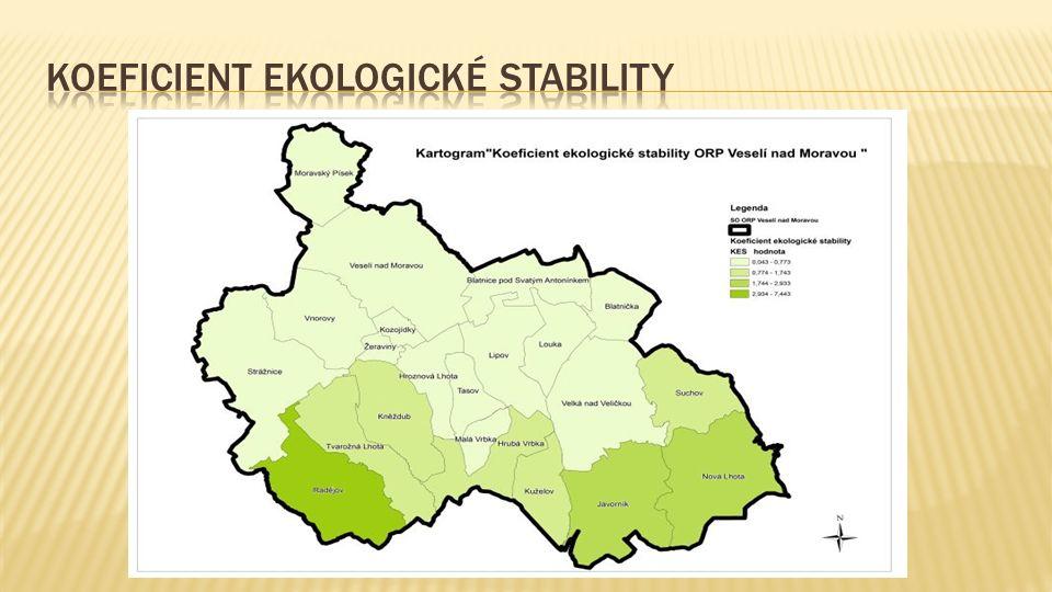 Vyváženost hospodářského pilíře lze posuzovat také podle chybějících pracovních příležitostí v území.