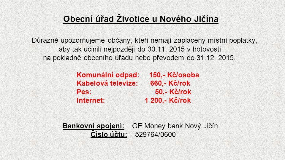 HORAL Mořkov a.s.Oznamujeme občanům, že od 21.10.