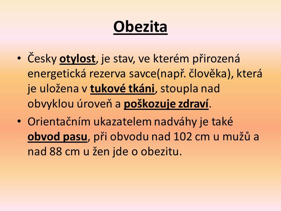 Obezita Česky otylost, je stav, ve kterém přirozená energetická rezerva savce(např.