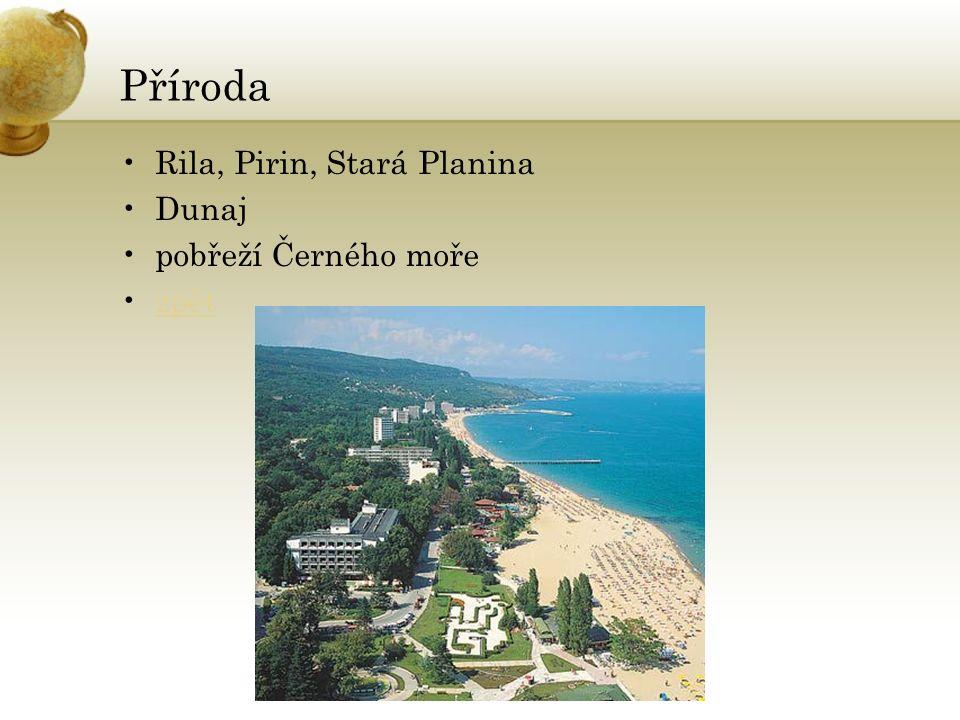 Příroda Rila, Pirin, Stará Planina Dunaj pobřeží Černého moře zpět