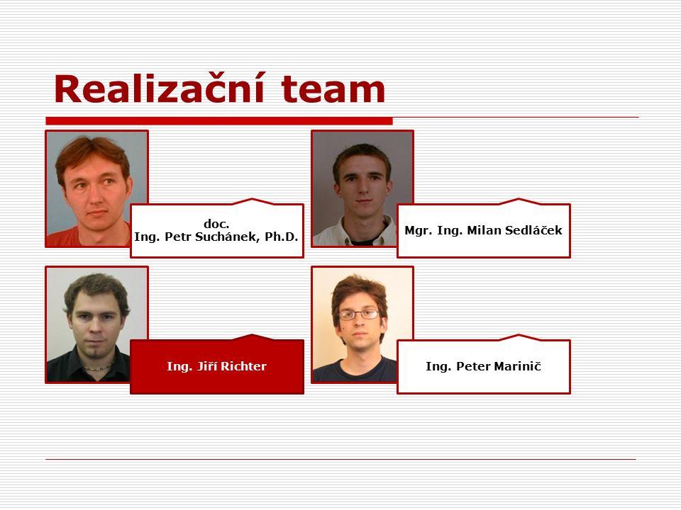 Realizační team doc. Ing. Petr Suchánek, Ph.D. Ing.