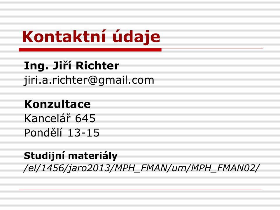 Kontaktní údaje Ing.