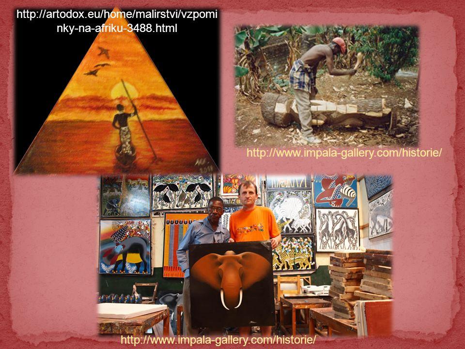 http://artodox.eu/home/malirstvi/vzpomi nky-na-afriku-3488.html http://www.impala-gallery.com/historie/