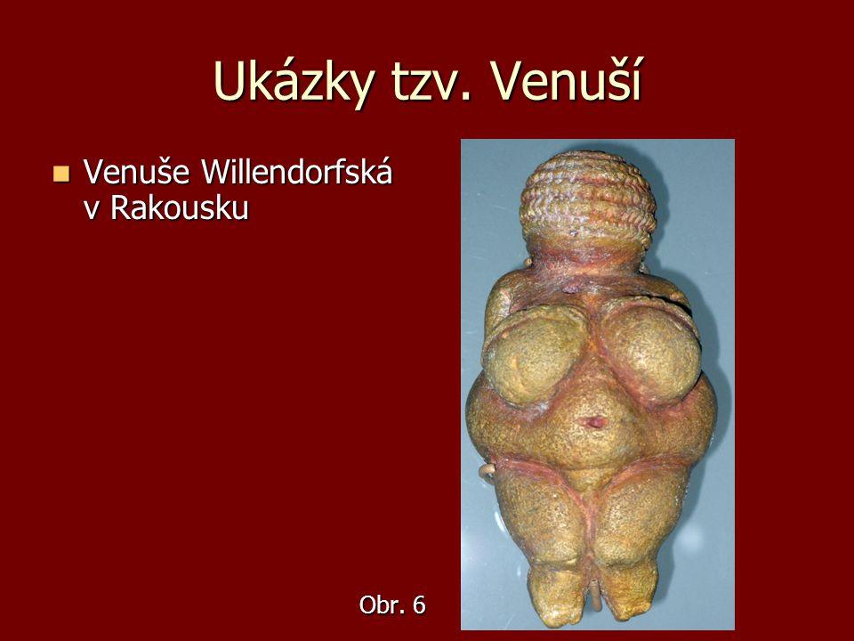 Ukázky tzv. Venuší Venuše Willendorfská v Rakousku Venuše Willendorfská v Rakousku Obr. 6 Obr. 6