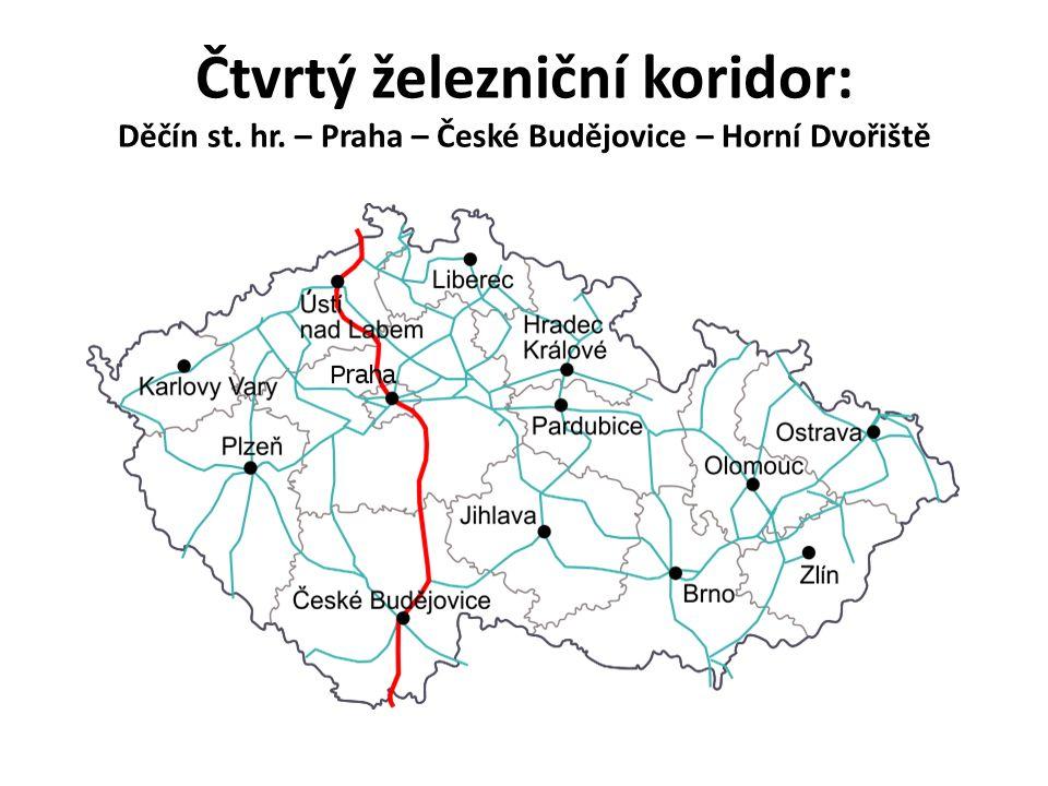 Čtvrtý železniční koridor: Děčín st. hr. – Praha – České Budějovice – Horní Dvořiště