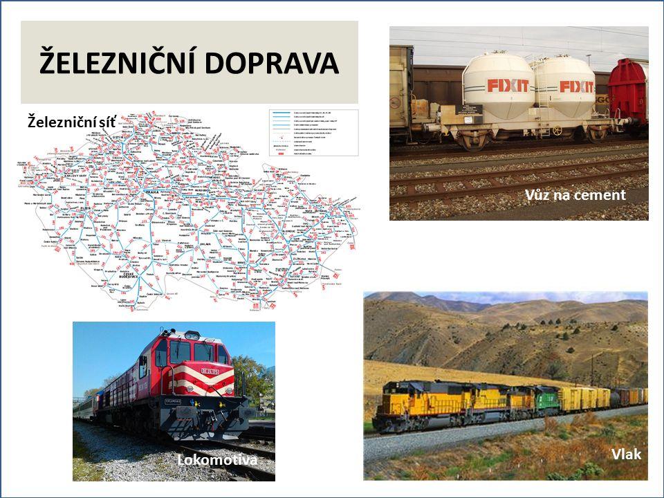 Železniční síť Vůz na cement Lokomotiva Vlak ŽELEZNIČNÍ DOPRAVA Lokomotiva