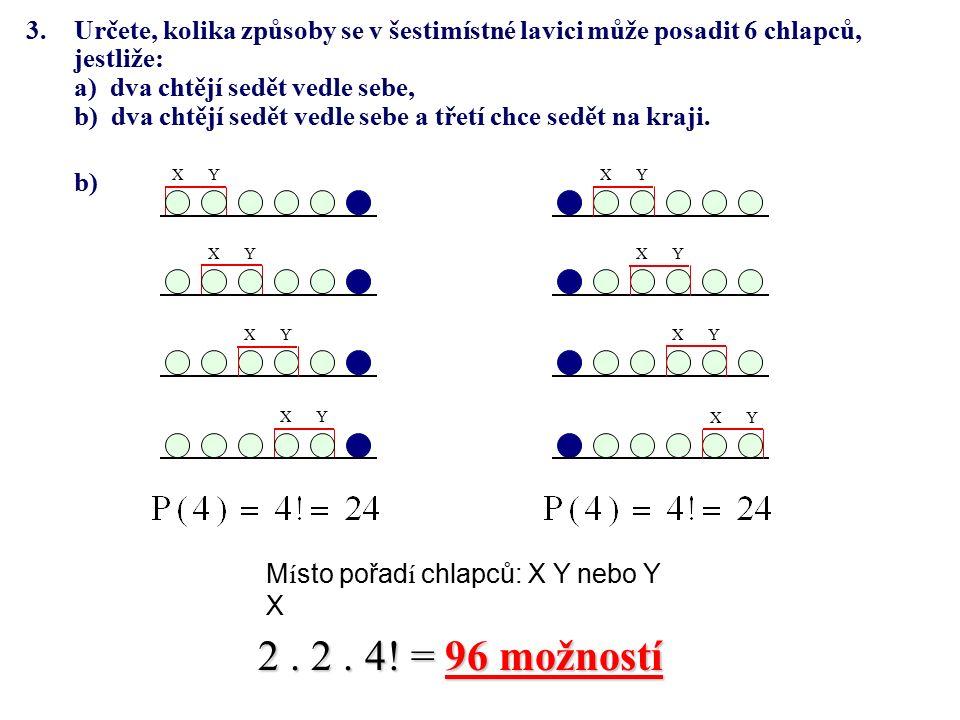 4.Kolik přímek určuje 10 různých bodů v rovině, z nichž: a) žádné 3 neleží v jedné přímce, b) právě 6 leží v přímce.