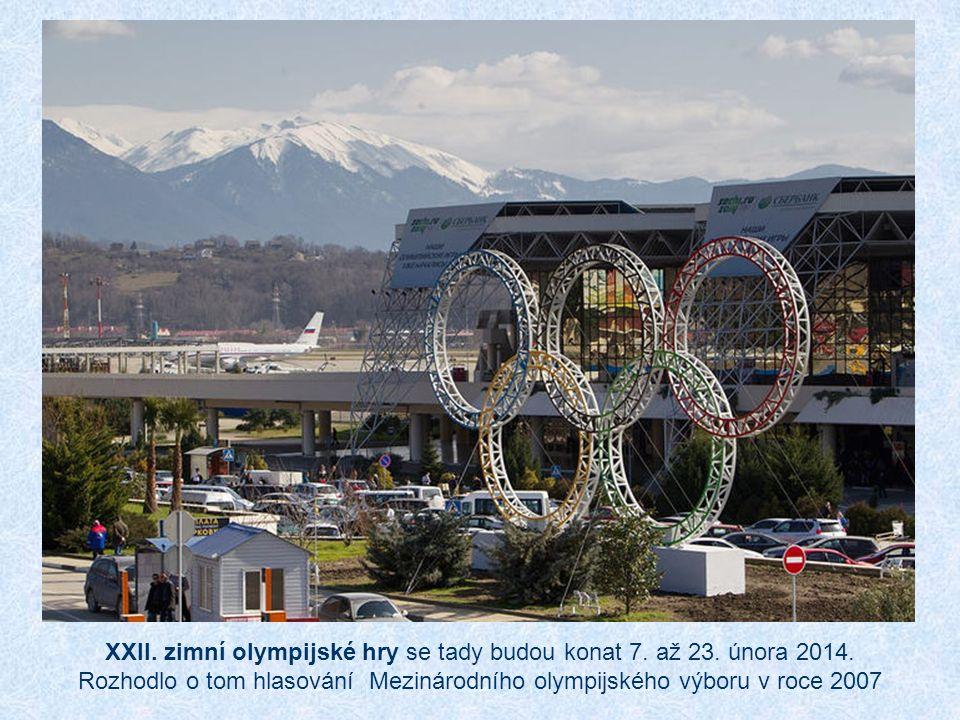 XXII.zimní olympijské hry se tady budou konat 7. až 23.