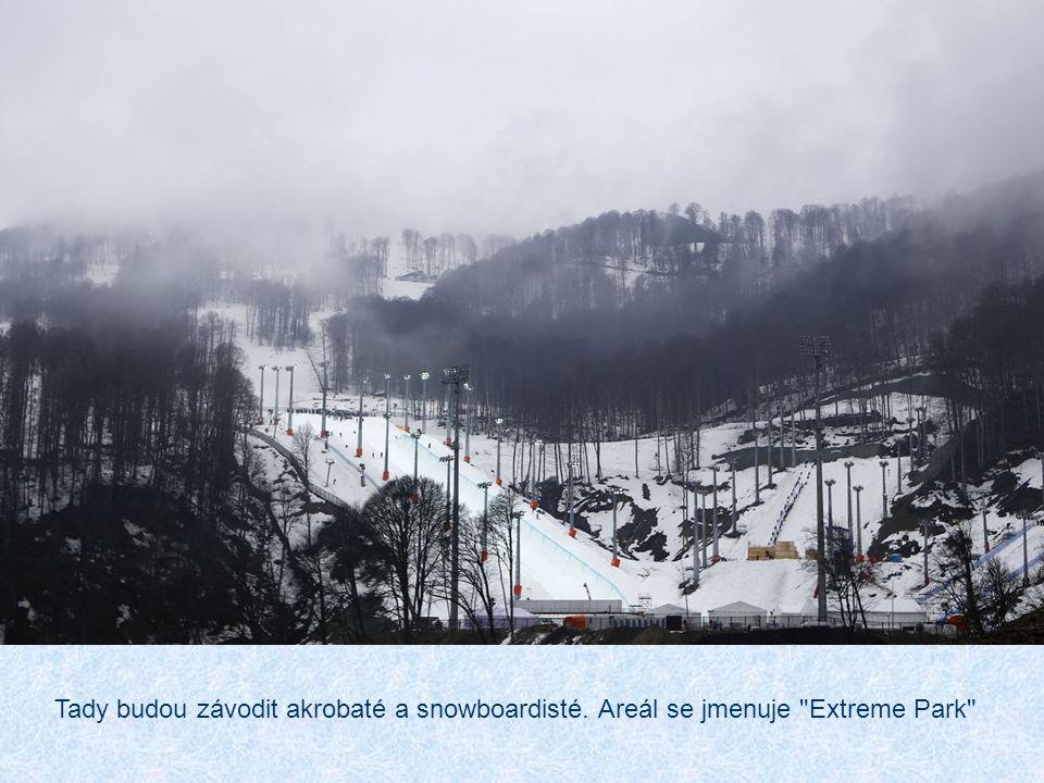 Tady budou závodit akrobaté a snowboardisté. Areál se jmenuje Extreme Park