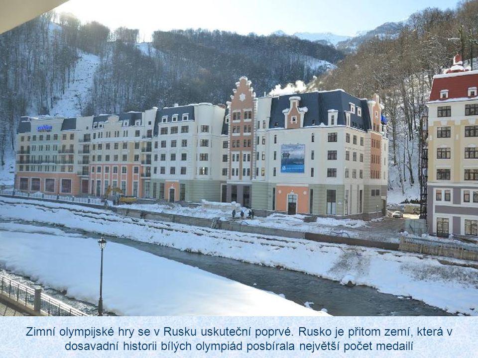 Zimní olympijské hry se v Rusku uskuteční poprvé.