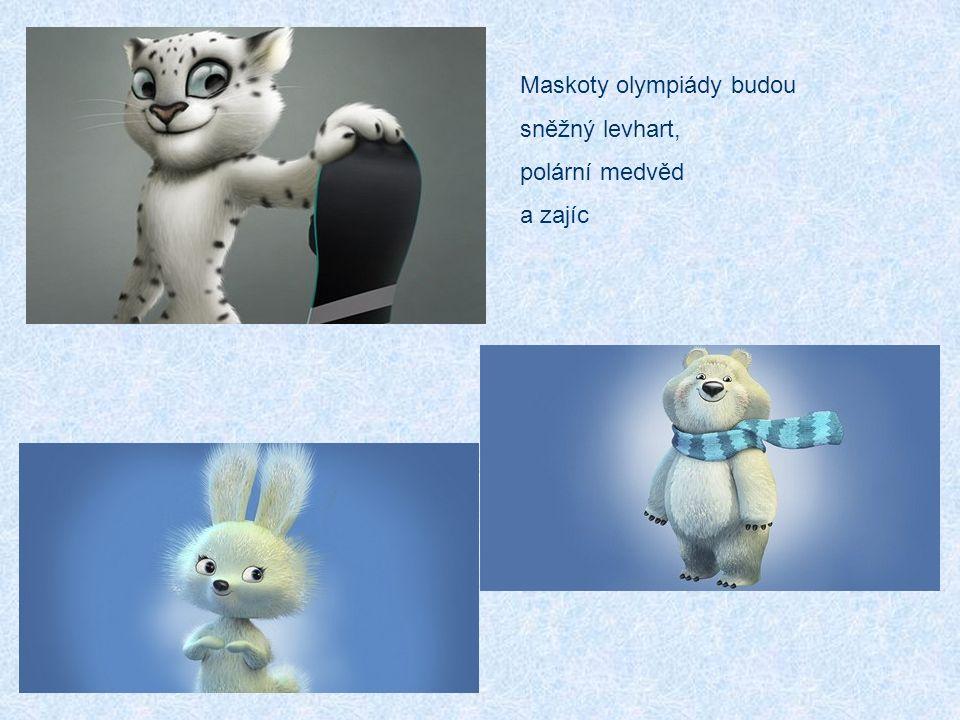 Maskoty olympiády budou sněžný levhart, polární medvěd a zajíc