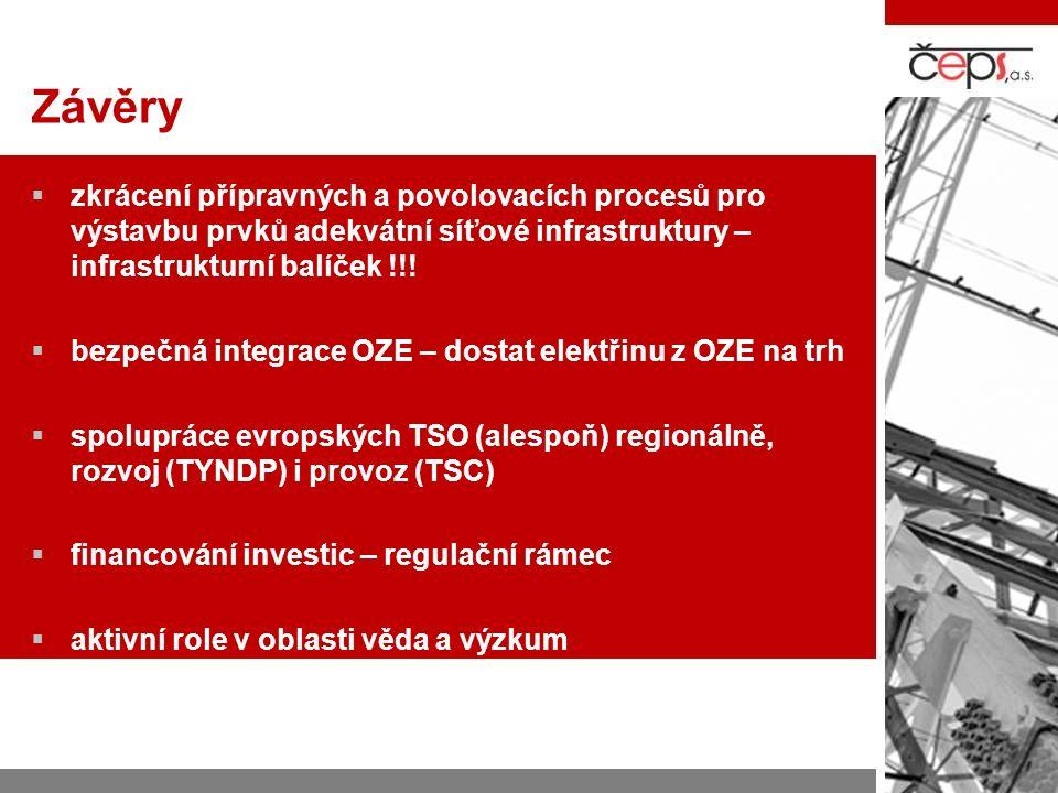 Závěry  zkrácení přípravných a povolovacích procesů pro výstavbu prvků adekvátní síťové infrastruktury – infrastrukturní balíček !!.