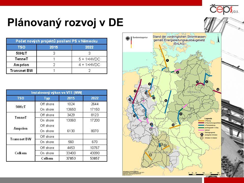 Plánovaný rozvoj v DE