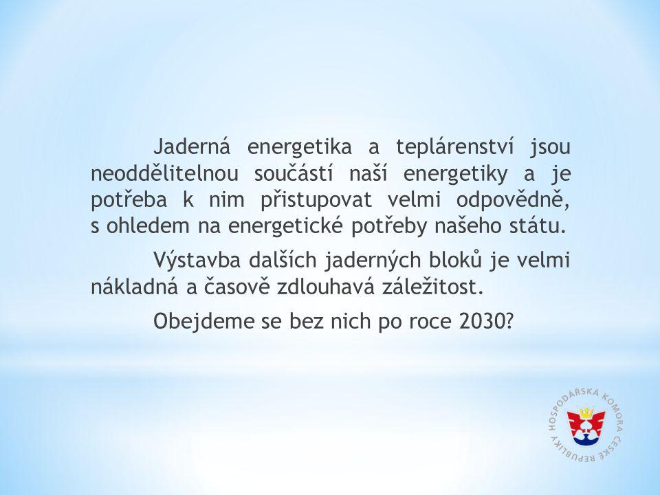 Jaderná energetika a teplárenství jsou neoddělitelnou součástí naší energetiky a je potřeba k nim přistupovat velmi odpovědně, s ohledem na energetické potřeby našeho státu.