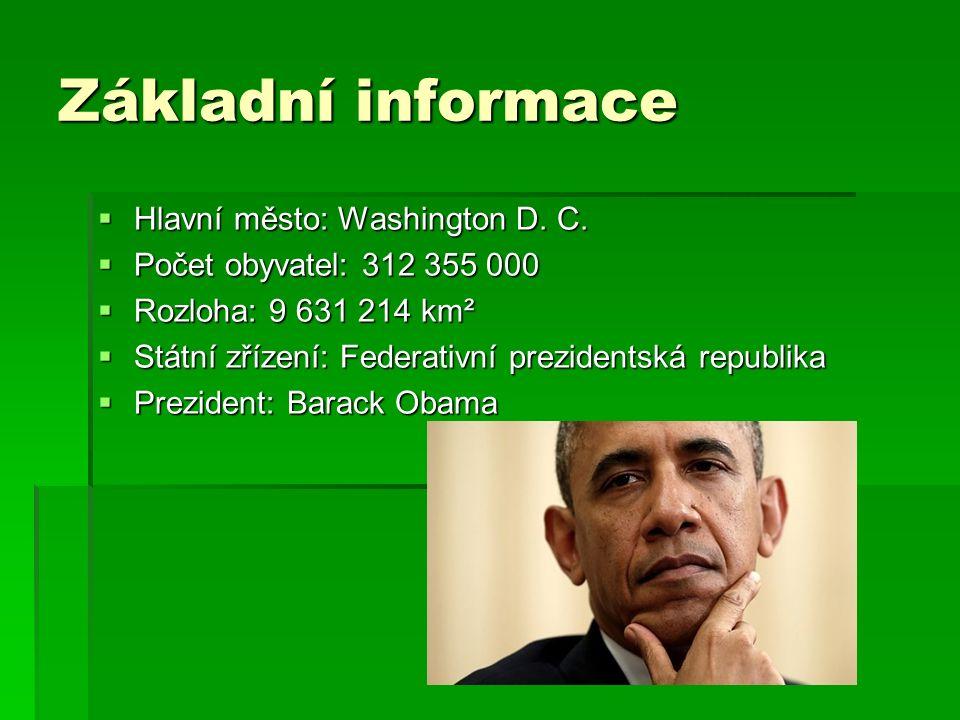 Základní informace  Hlavní město: Washington D. C.
