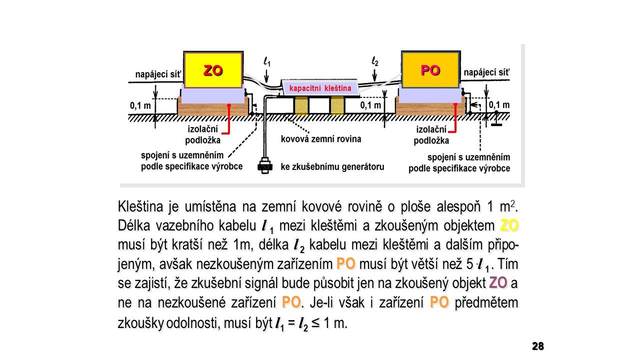 28 Kleština je umístěna na zemní kovové rovině o ploše alespoň 1 m 2.