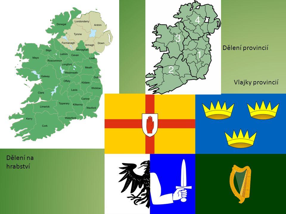 Dělení na hrabství Dělení provincií Vlajky provincií