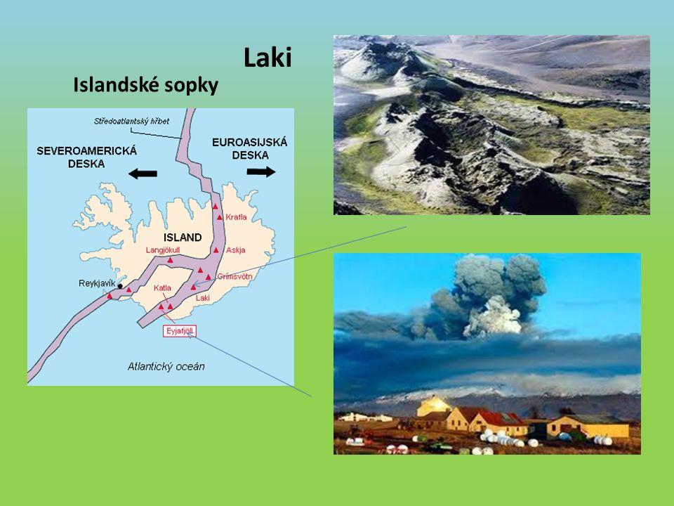 Islandské sopky Laki