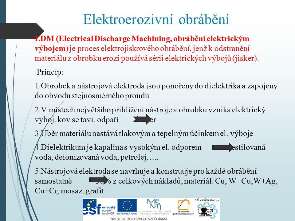 Elektroerozivní obrábění EDM (Electrical Discharge Machining, obrábění elektrickým výbojem) je proces elektrojiskrového obrábění, jenž k odstranění materiálu z obrobku erozí používá sérii elektrických výbojů (jisker).