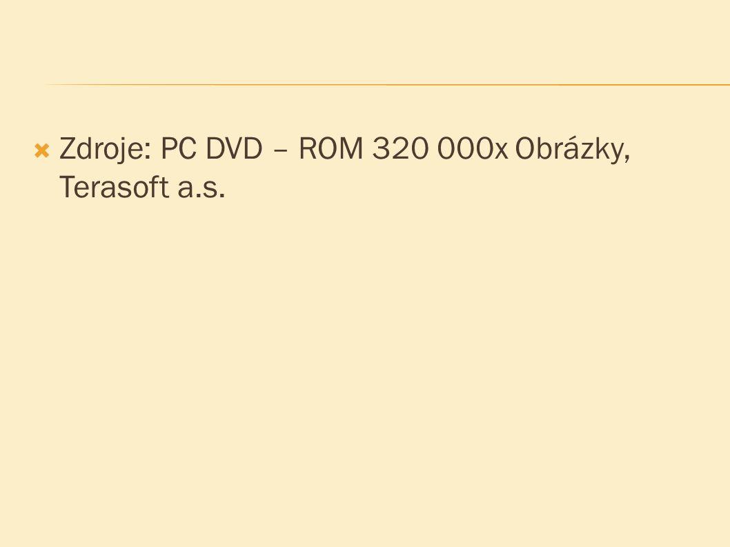  Zdroje: PC DVD – ROM 320 000x Obrázky, Terasoft a.s.