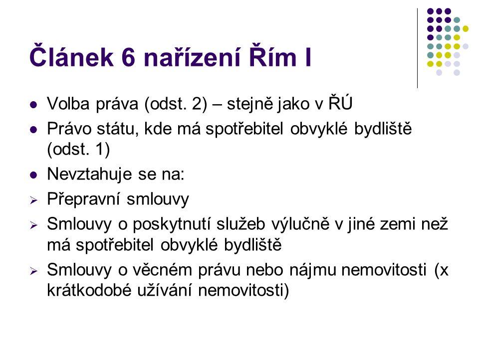 Článek 6 nařízení Řím I Volba práva (odst.