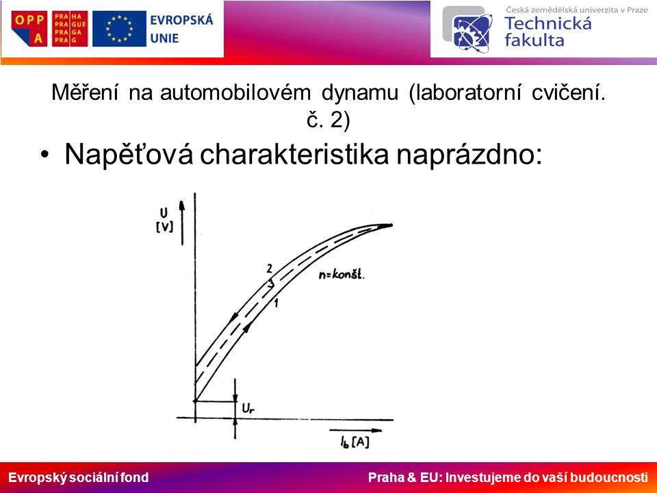 Evropský sociální fond Praha & EU: Investujeme do vaší budoucnosti Měření na automobilovém dynamu (laboratorní cvičení.