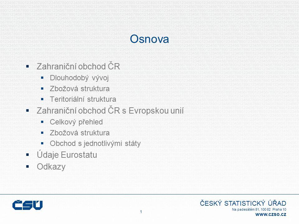 ČESKÝ STATISTICKÝ ÚŘAD Na padesátém 81, 100 82 Praha 10 www.czso.cz Graf č.