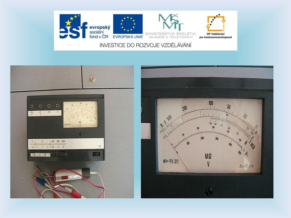 Měření izolačních odporů u nových zařízení uváděných do provozu.