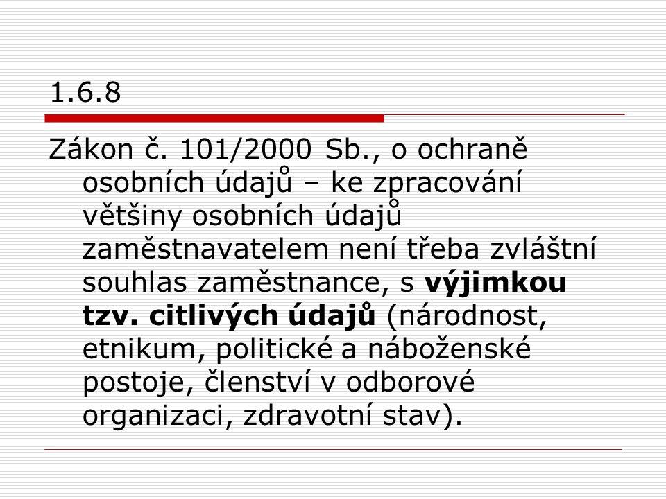 1.6.8 Zákon č.