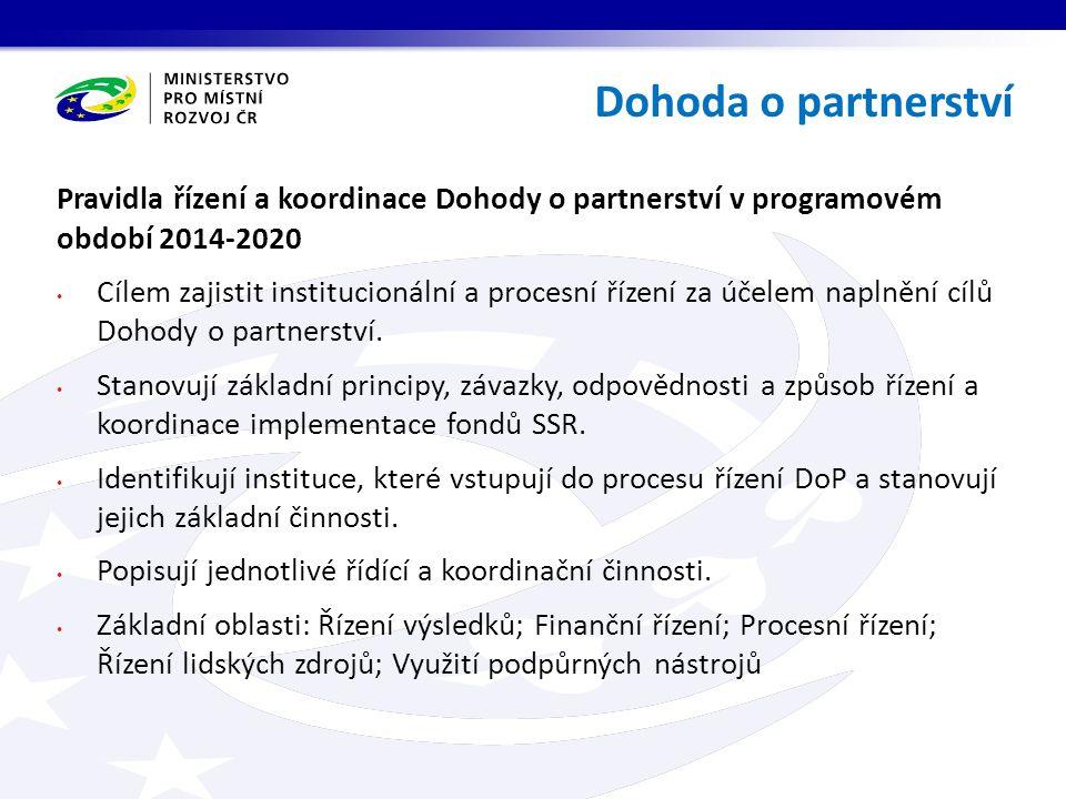 Koncepce jednotného metodického prostředí jako součást pro naplňování cílů Dohody o partnerství.