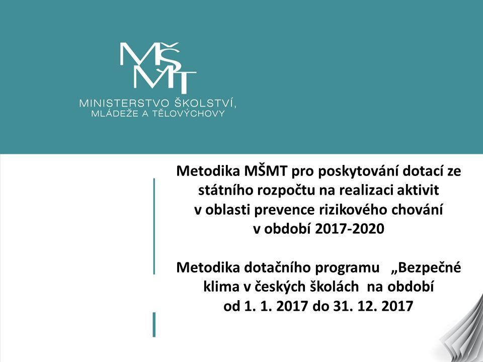 12 Postup při rozhodování o poskytnutí dotace Formální hodnocení - hodnocení dodržení formálních náležitostí stanovených touto Metodikou.
