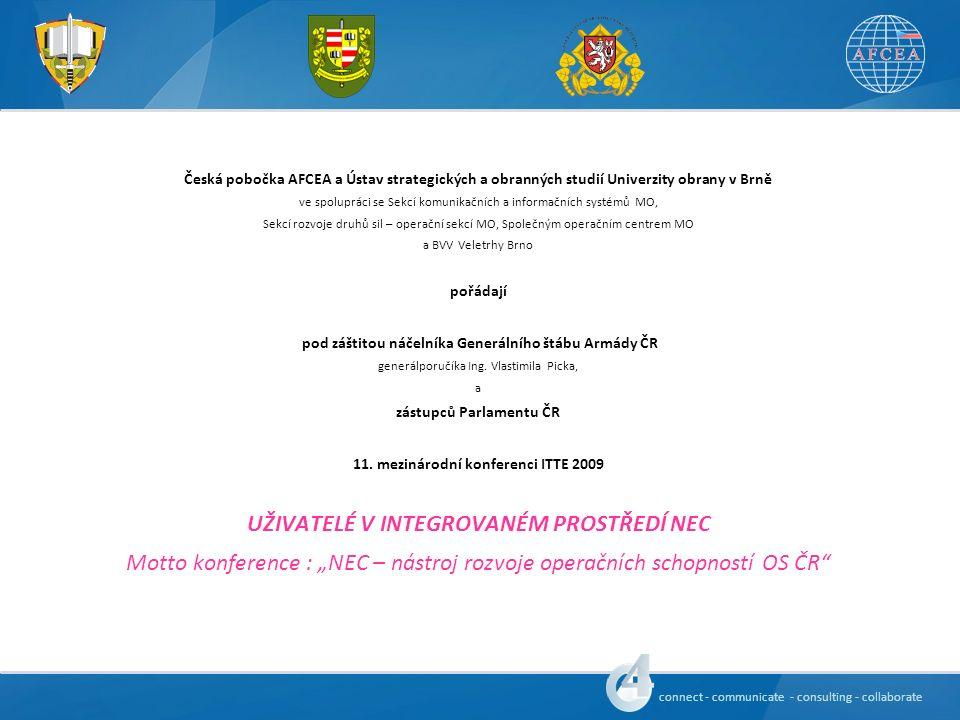 connect - communicate - consulting - collaborate Předběžný program konference 6.