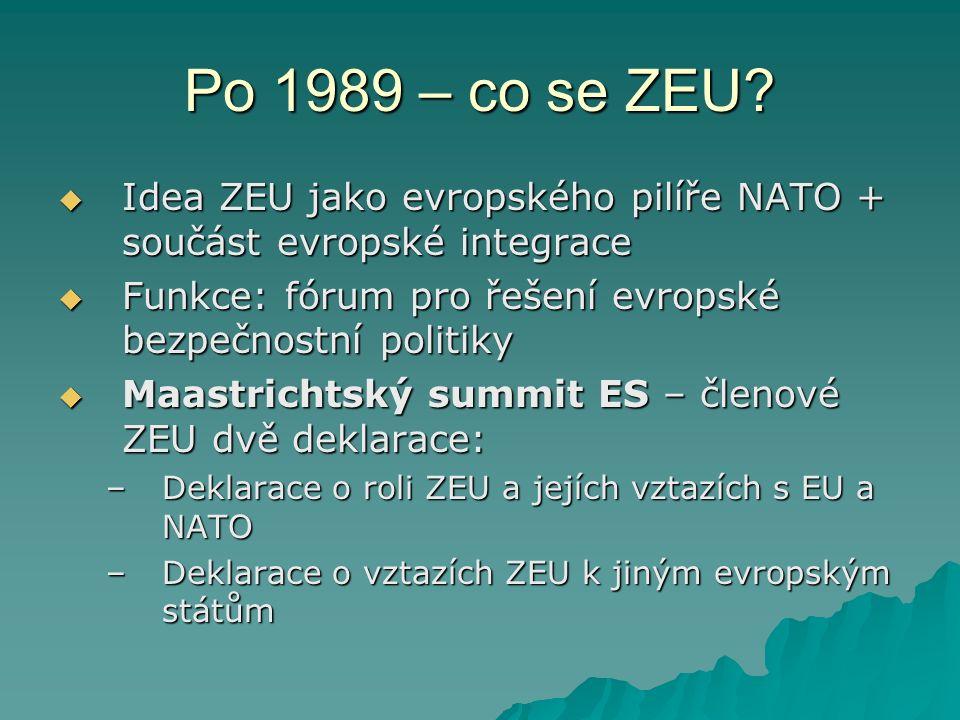 Po 1989 – co se ZEU.