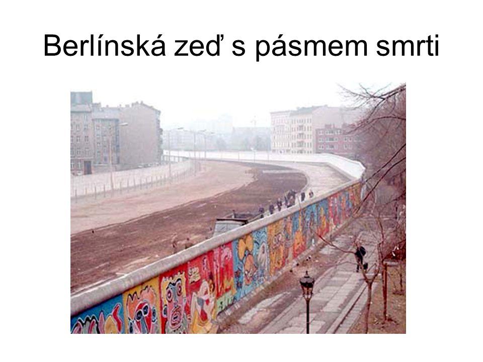 Berlínská zeď s pásmem smrti
