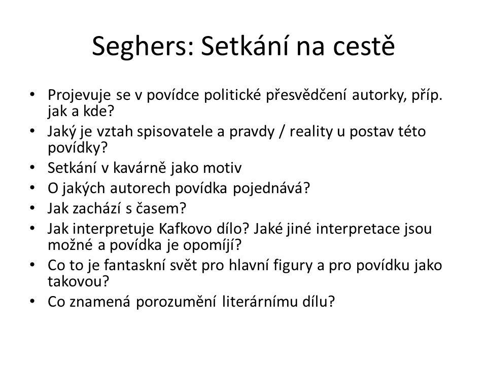 Seghers: Setkání na cestě Projevuje se v povídce politické přesvědčení autorky, příp.