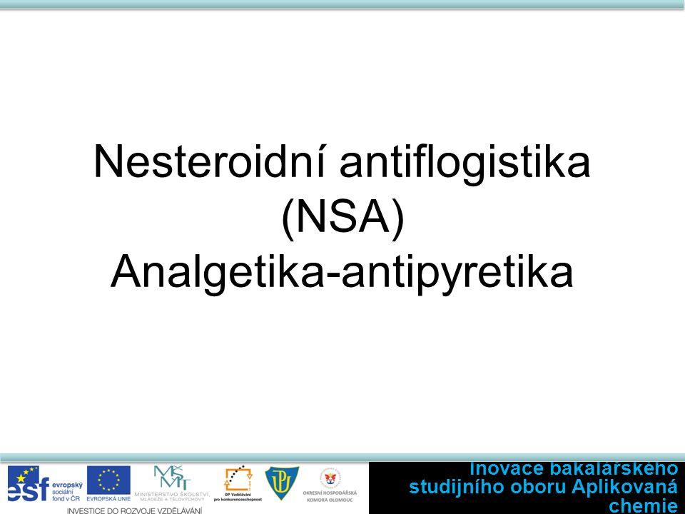 Nesteroidní antiflogistika (NSA) Analgetika-antipyretika Inovace bakalářského studijního oboru Aplikovaná chemie