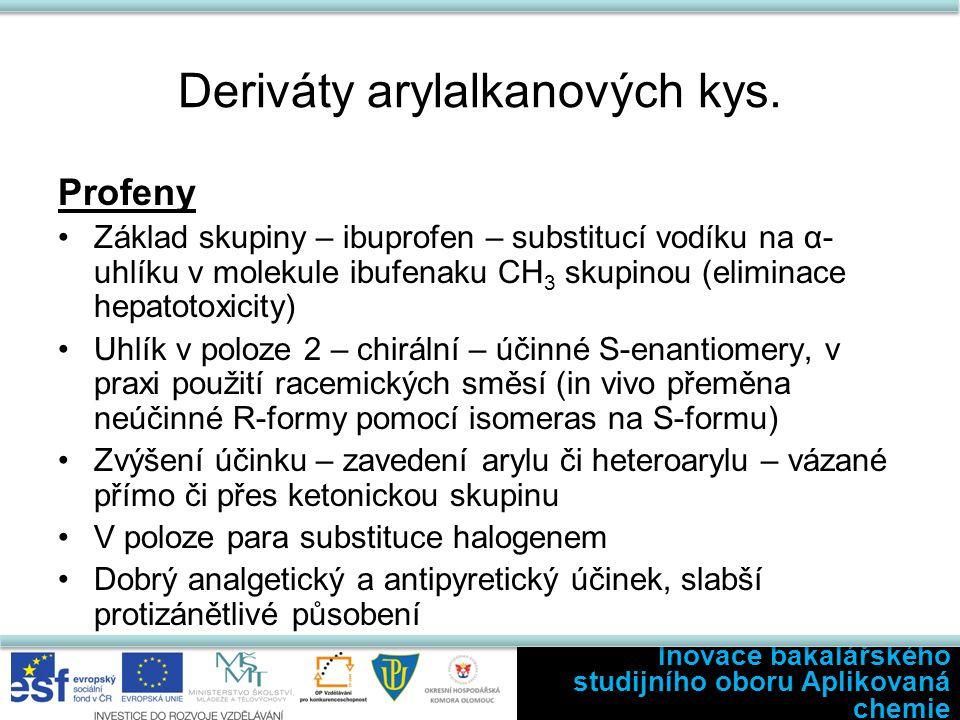 Deriváty arylalkanových kys.