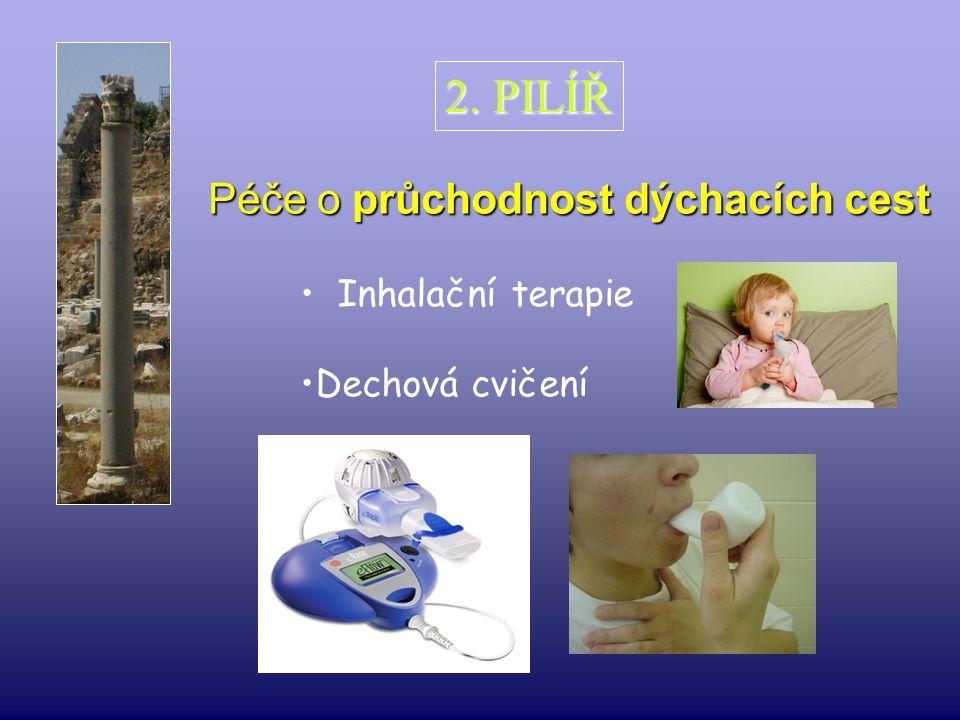Péče o průchodnost dýchacích cest 2. PILÍŘ Inhalační terapie Dechová cvičení