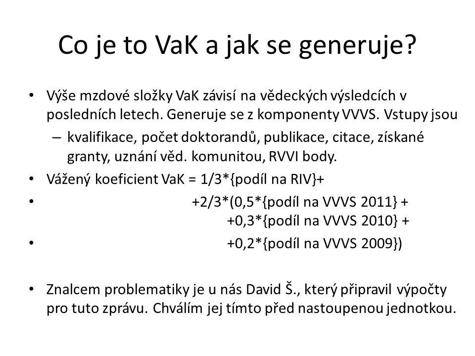 Co je to VaK a jak se generuje.