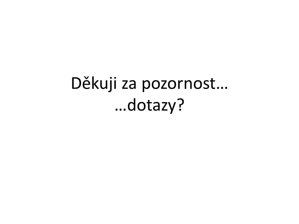 Děkuji za pozornost… …dotazy?