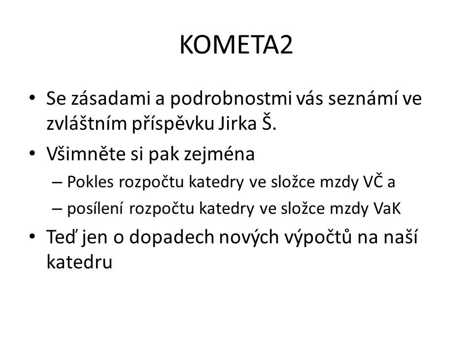 KOMETA2 Se zásadami a podrobnostmi vás seznámí ve zvláštním příspěvku Jirka Š.