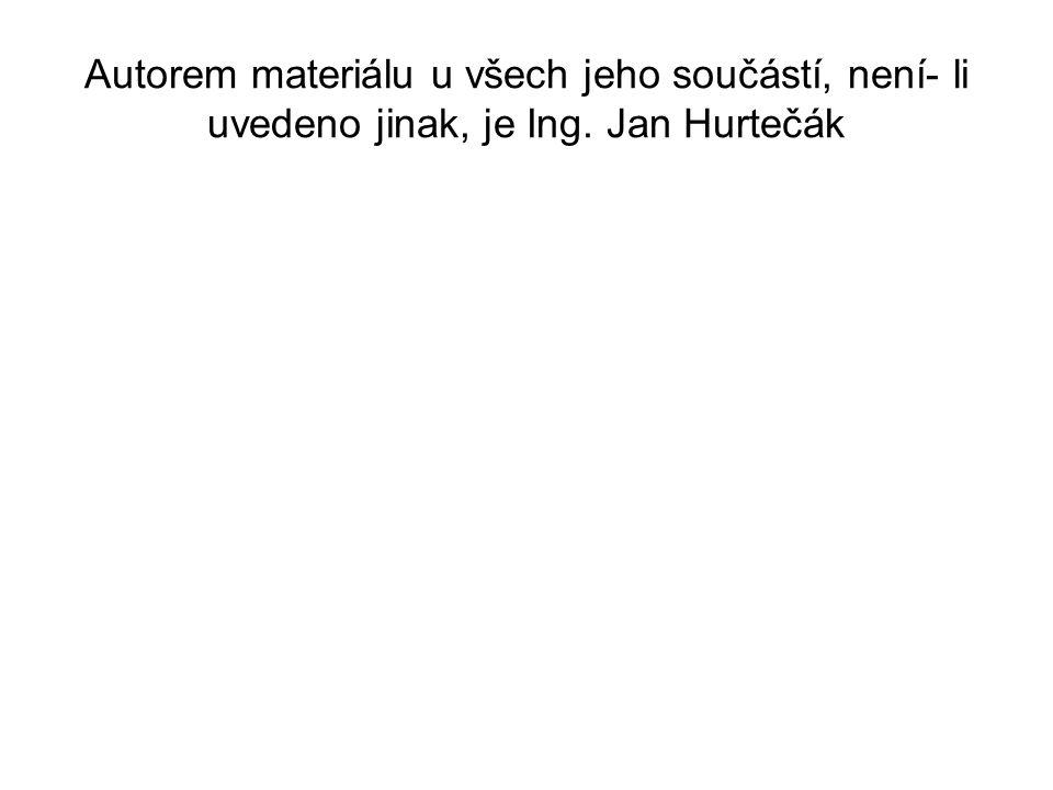 Autorem materiálu u všech jeho součástí, není- li uvedeno jinak, je Ing. Jan Hurtečák