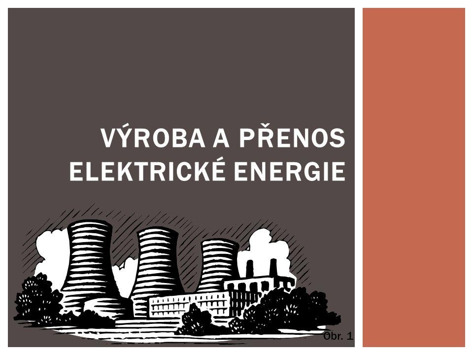 VÝROBA A PŘENOS ELEKTRICKÉ ENERGIE Obr. 1