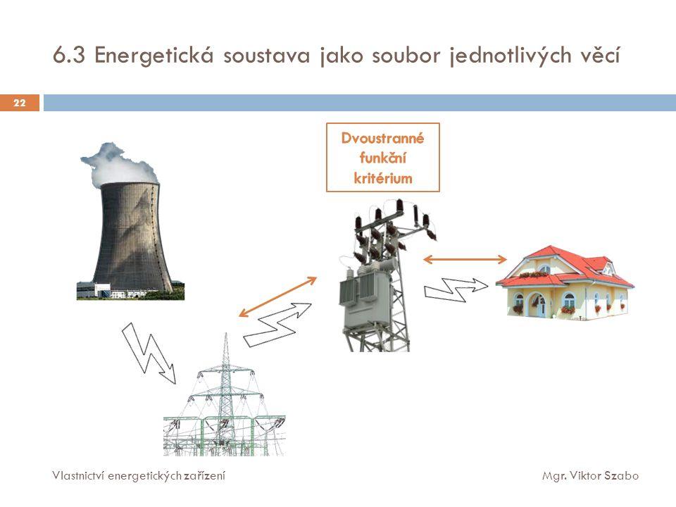 6.3 Energetická soustava jako soubor jednotlivých věcí Vlastnictví energetických zařízeníMgr.